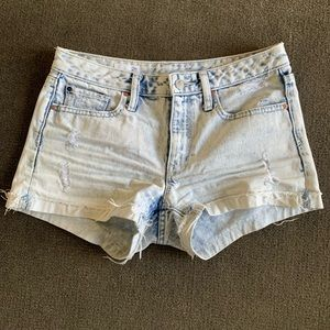 GAP Denim Distressed Shorts, Size 26